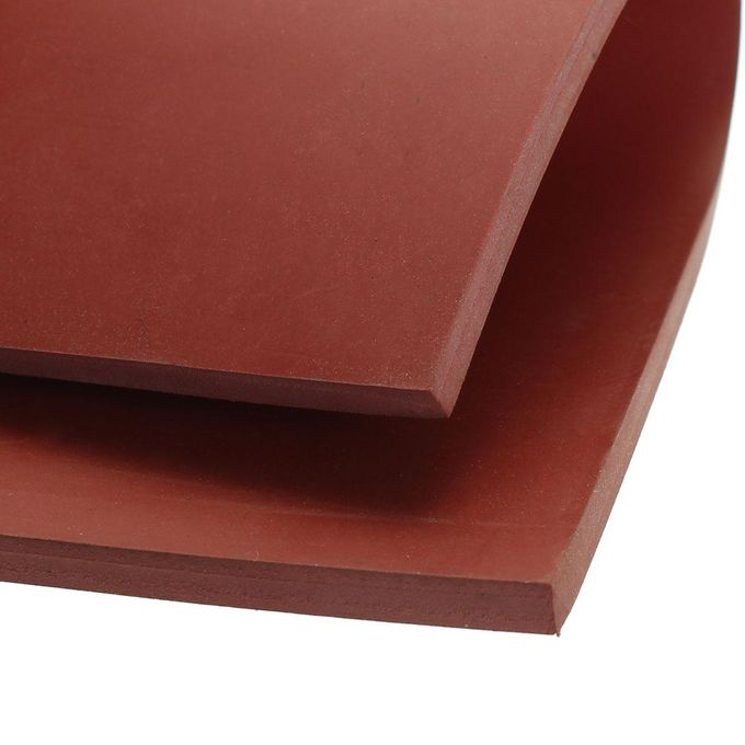 """Red 5mm 1//5/"""" Thickness 8/""""x8/"""" Square Rubber Sheet Chemical Resistance High Temp"""