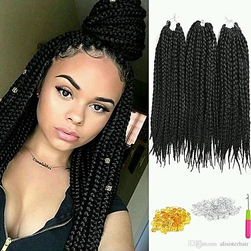 Buy Kanekalon Synthetic Crochet Braids Hair 18 4 Packs Colour 2