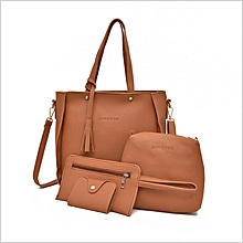 dbb2e2d73106 4-in-1 Leather Hand Bag - Brown