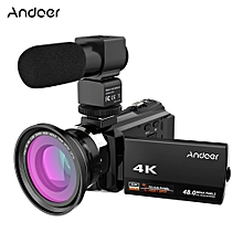 88ae2079097 Andoer 4K 1080P 48MP WiFi Digital Video Camera Camcorder Recorder