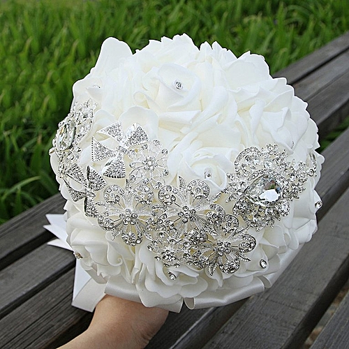 Beautiful Bride PE Foam Holding Flower Wedding Props Decoration Gifts