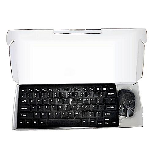 buy gwd 2 4g wireless mini keyboard mouse combo black online jumia ghana. Black Bedroom Furniture Sets. Home Design Ideas